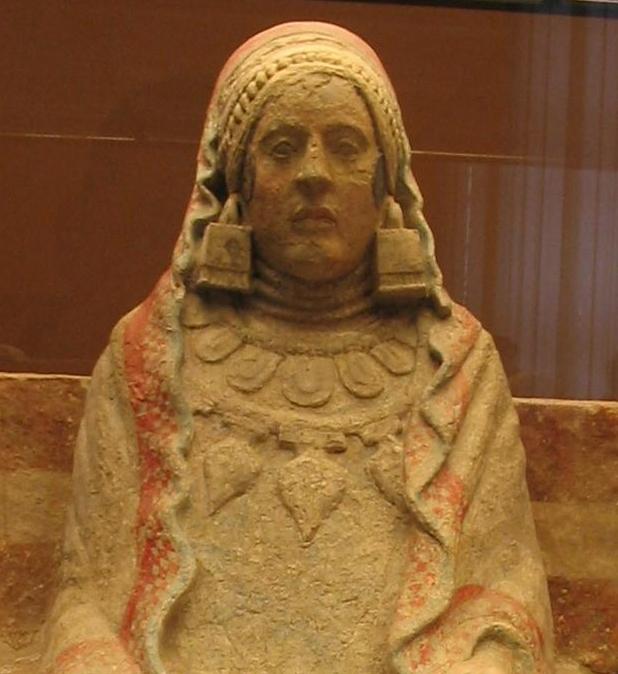 La Dama de Baza,  Iberian statue of a priestess.