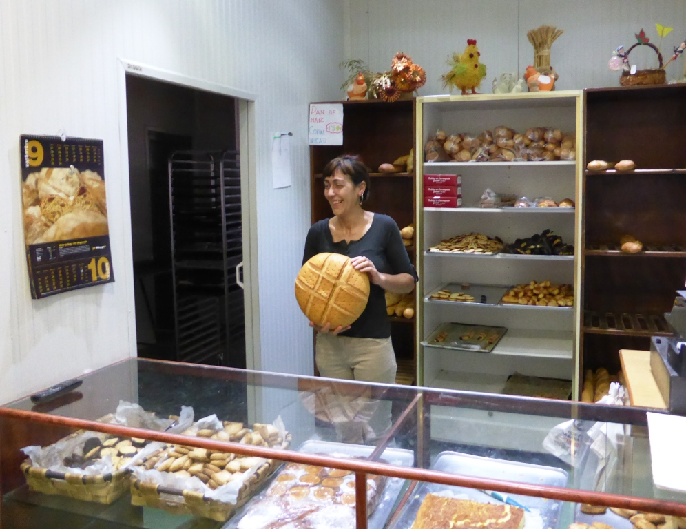 A wonderful bakery in Grañan, on the Way of St James.